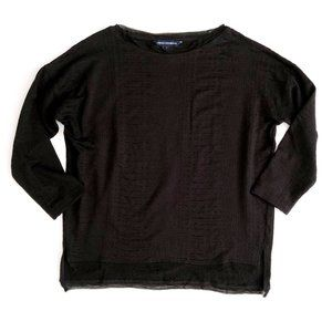 French Connection Women's Black Snakeskin Top XS